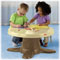 Easily converts to an activity table…with adjustable height to grow with your child!