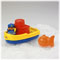 Includes boat with removable cabin piece, Captain figure and fish friend scoop.