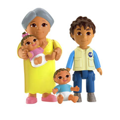 Dora Playtime Together Family Figure Pack