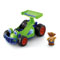 Includes RC vehicle and Little People® Woody figure.