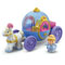 Includes Cinderella figure and coach with horse, mice and open-and-close trunk.
