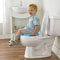 Extended use! Potty ring removes and fits on a regular toilet seat.