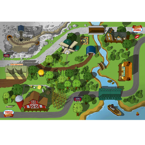 Thomas Amp Friends Wooden Railway Adventure Playboard