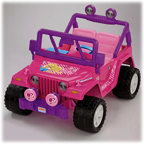 Fisher price power wheels pink barbie jeep
