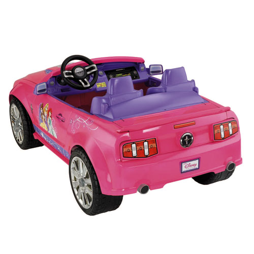 Power wheels disney princess ford mustang for Fisher price motorized cars
