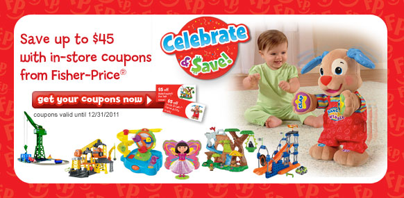 Fisher-Price Celebrate and Save Fall 2011 Online Coupon